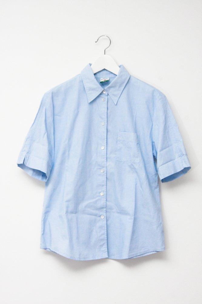 0718_VINTAGE PALE BLUE DANDY COTTON SHIRT