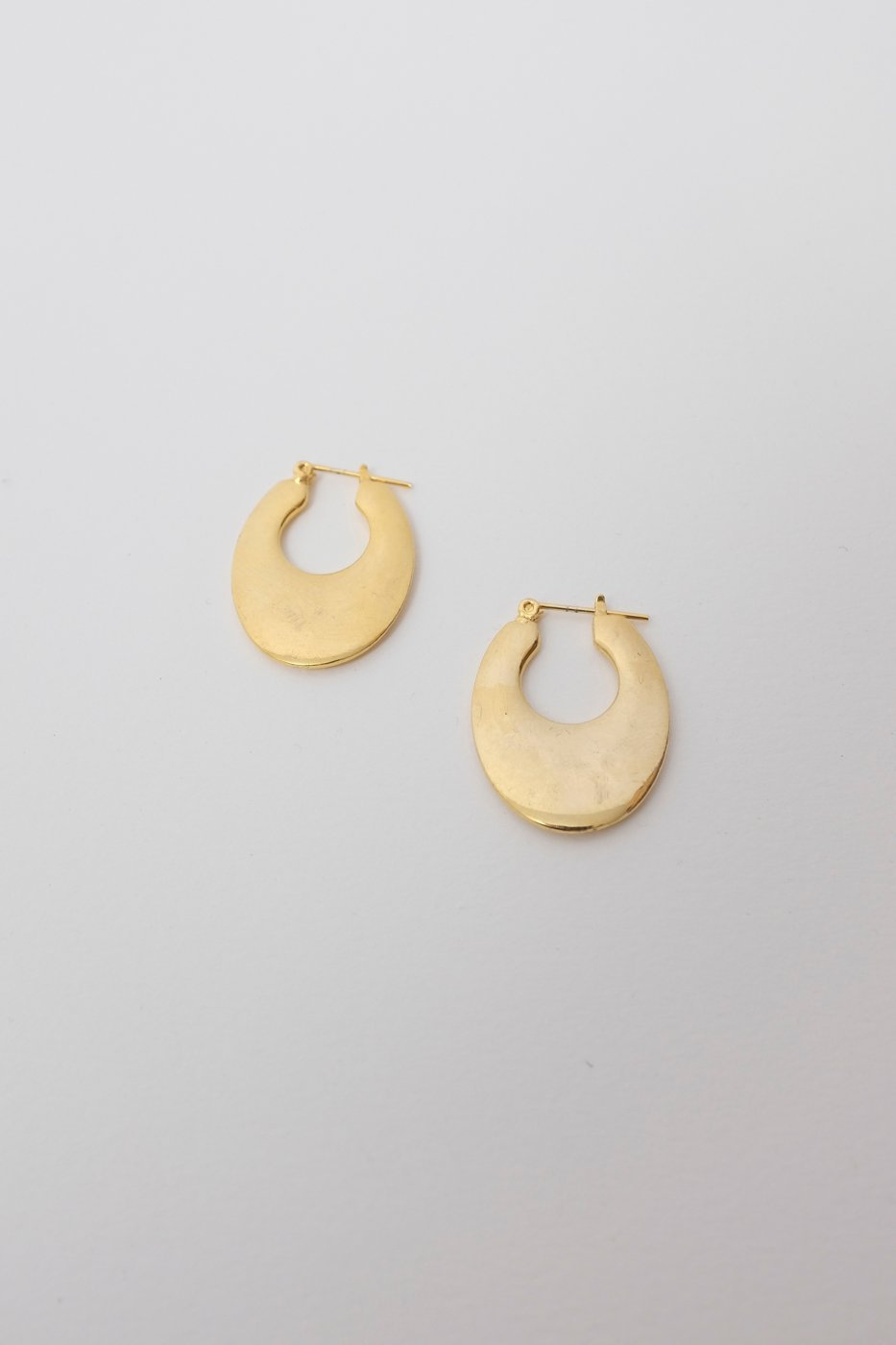 0340_VINTAGE GOLD FLAT CREOLEN EARRINGS