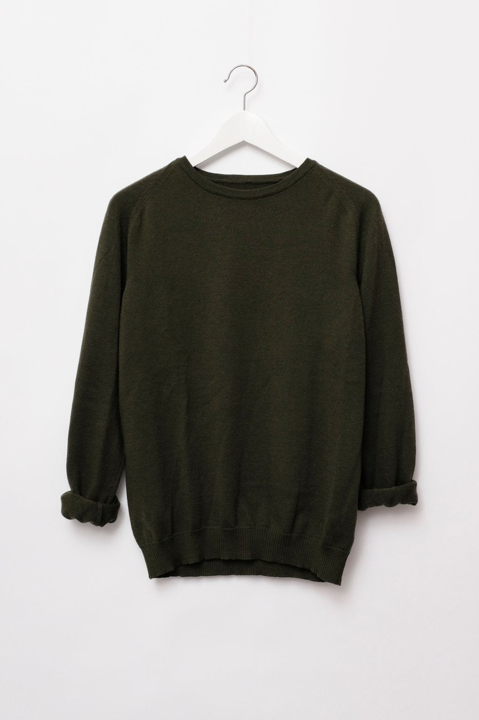 0274_KHAKI COTTON CASHMERE SWEATER