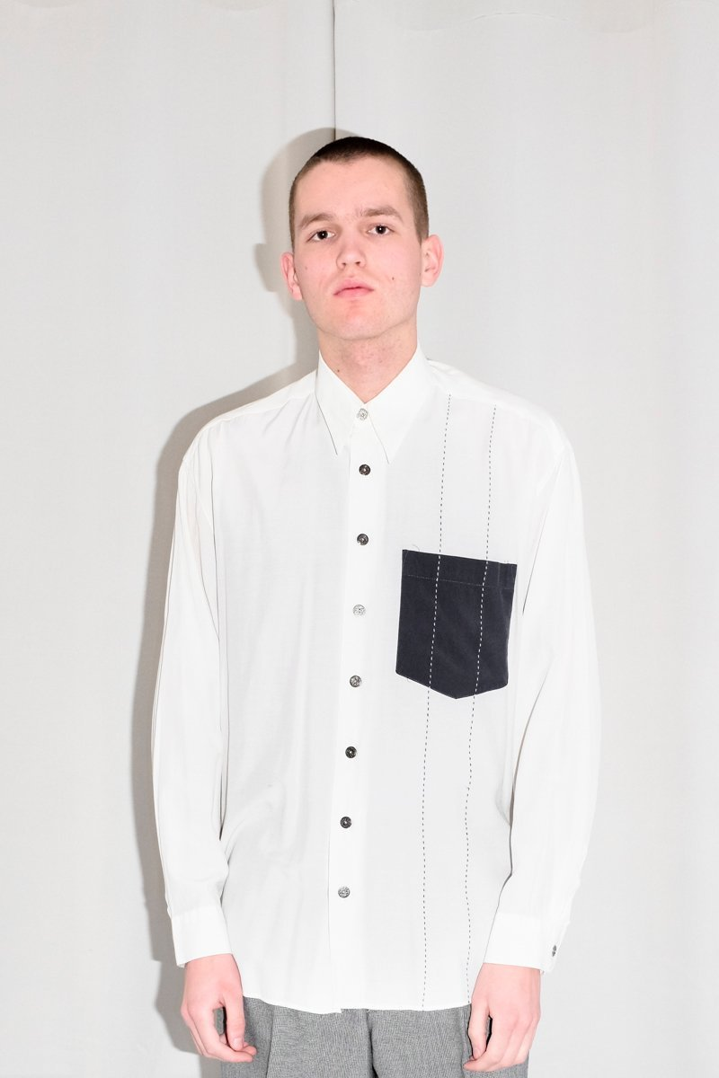 0541_OFF WHITE VINTAGE EMBROIDERY SHIRT