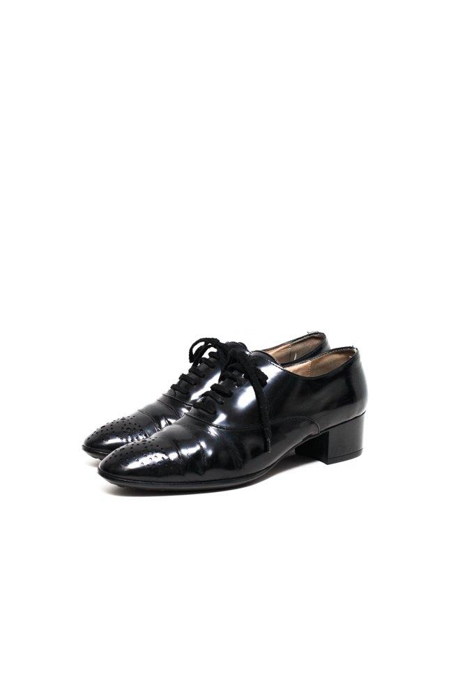 0598_TODS 39 BLACK PATENT LEATHER BROGUES SHOES
