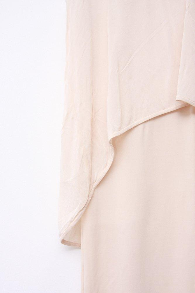 0745_COS PASTEL LIGHT SALMON PINK LAYERED DRESS