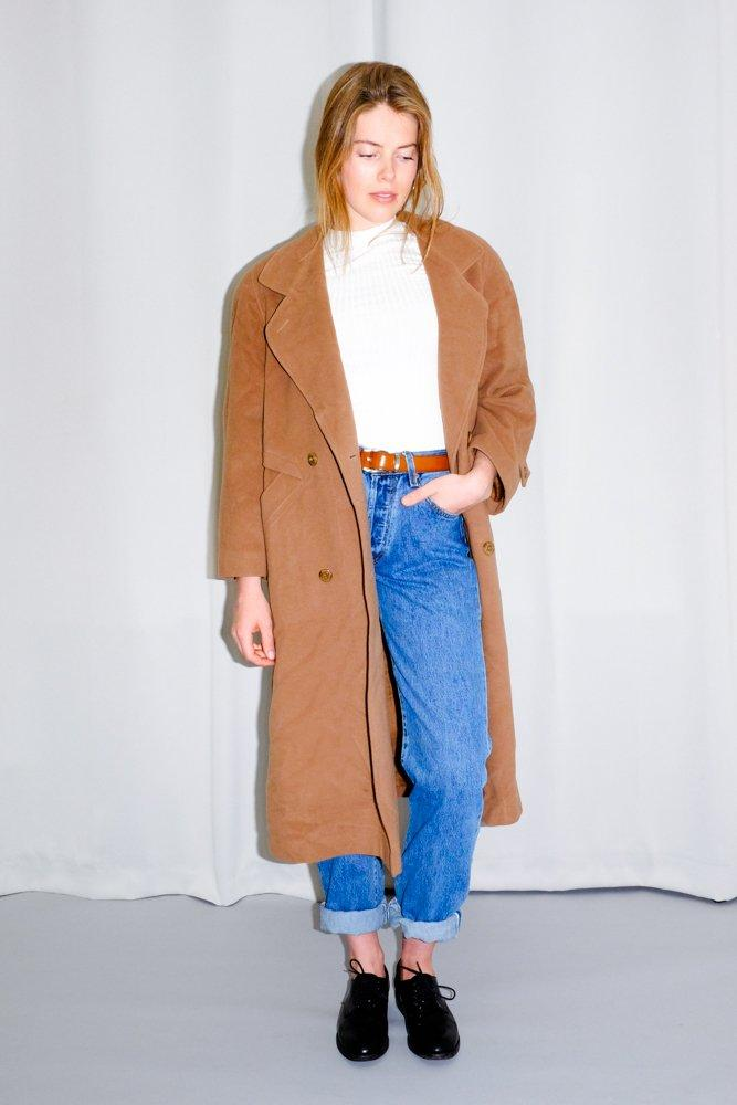 0569_VINTAGE CAMEL WOOL COAT