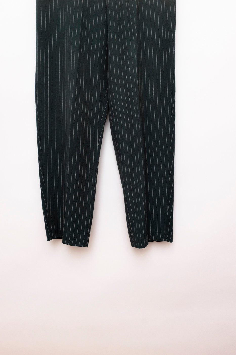 0377_PINSTRIPE CARROT GREEN VINTAGE TROUSERS