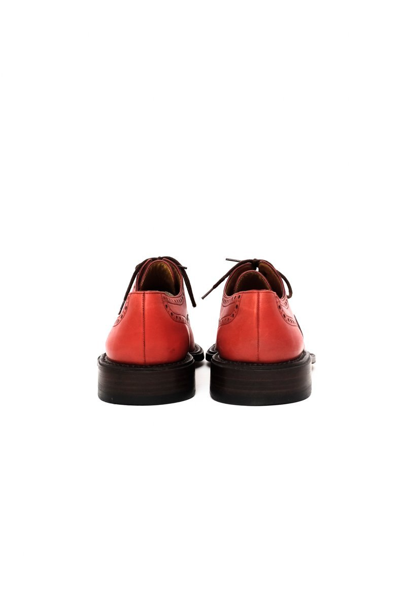 0530_BALLY 38 RED LEATHER BUDAPESTER SHOES