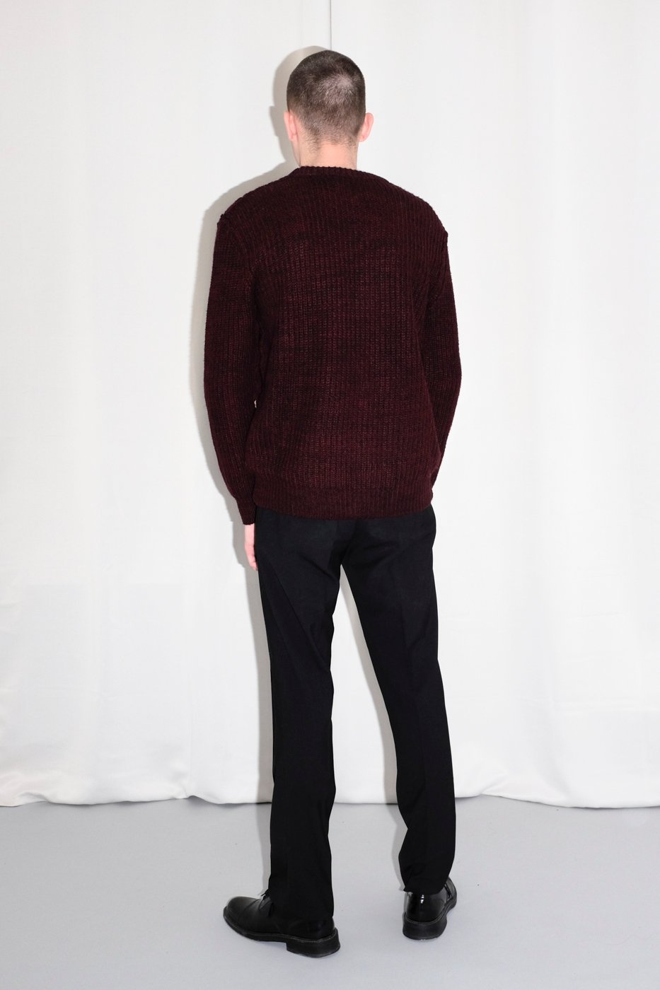 0405_BURGUNDY WARM KNIT SWEATER