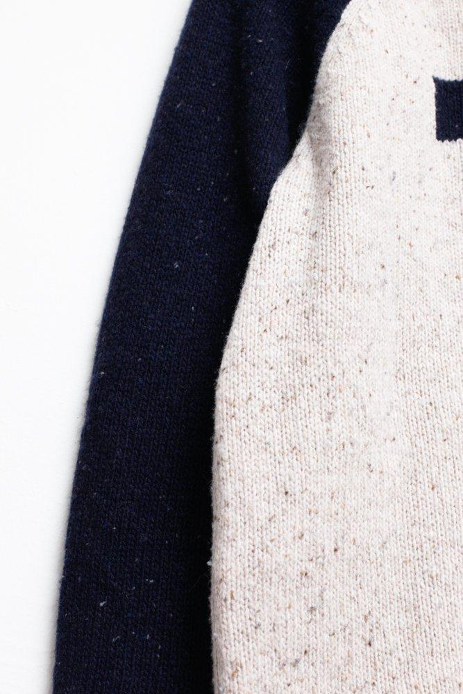 0624_WOOD WOOD NAVY KNIT SWEATER