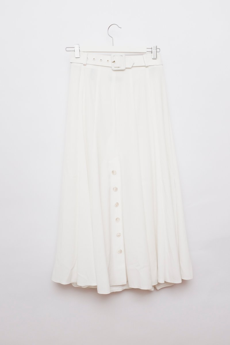 0228_WHITE BUTTON DOWN MAXI SKIRT
