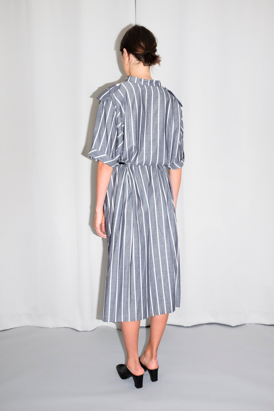 0465_STRIPED COTTON SHIRT DRESS