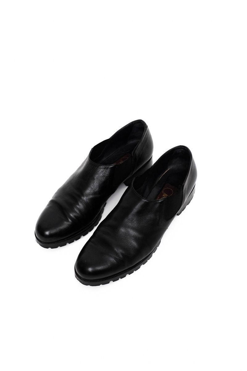 0571_CHELSEA 42 BLACK LEATHER SLIPPERS