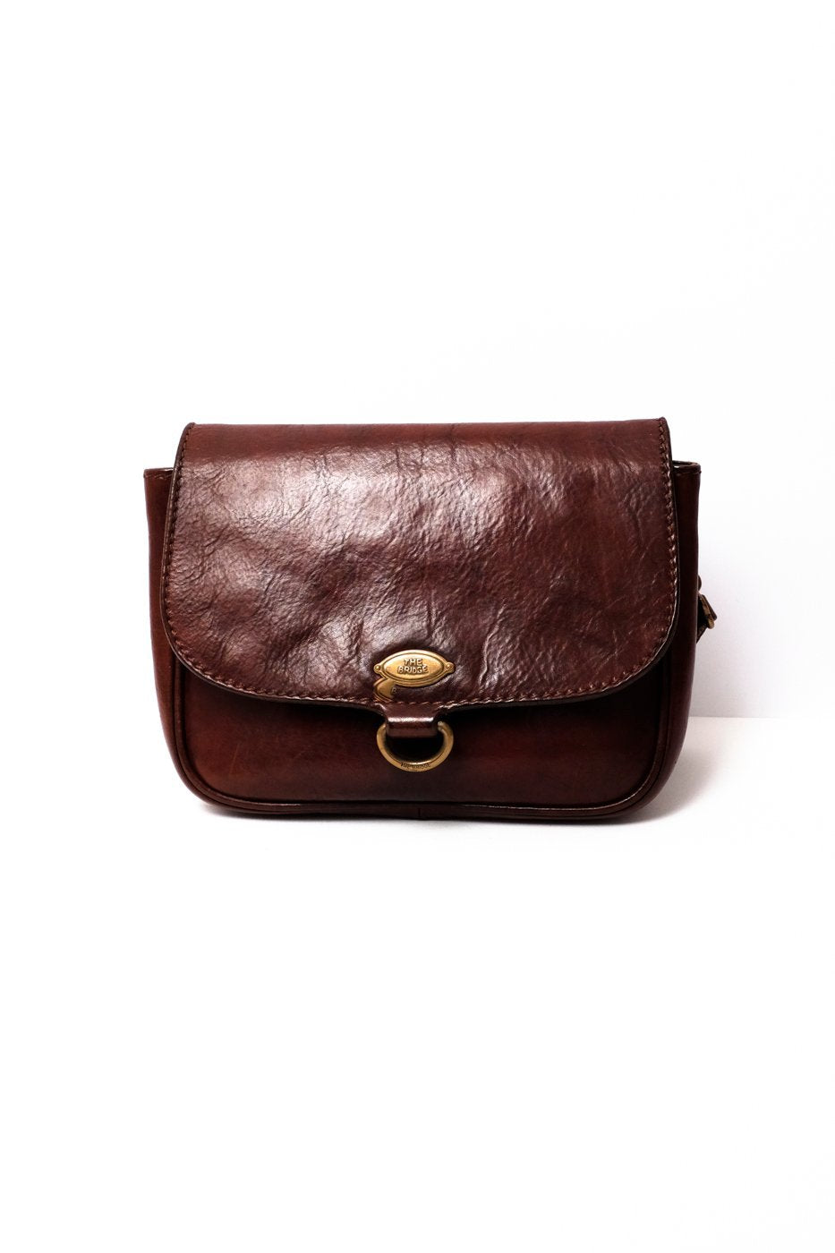 0332_THE BRIDGE SADDLE LEATHER BAG