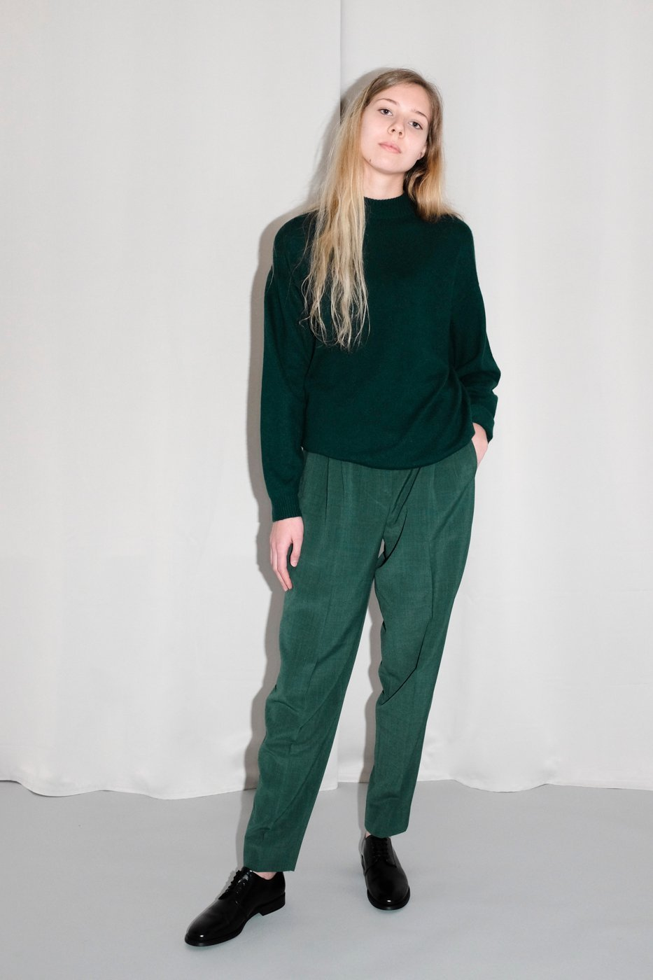 0257_CASHMERE FOREST GREEN KNIT