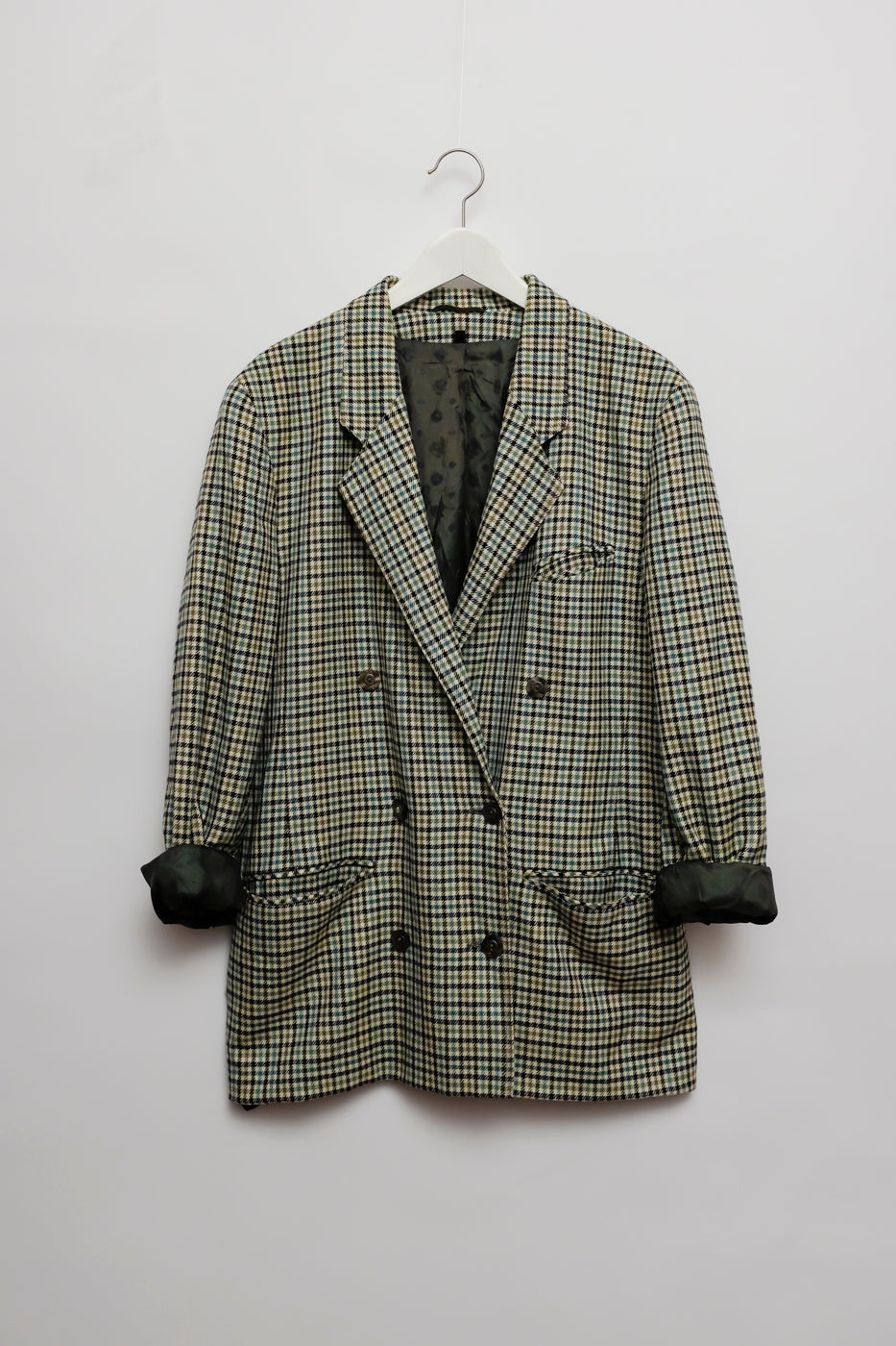 0104_PLAID WOOL OVERSIZED BLAZER