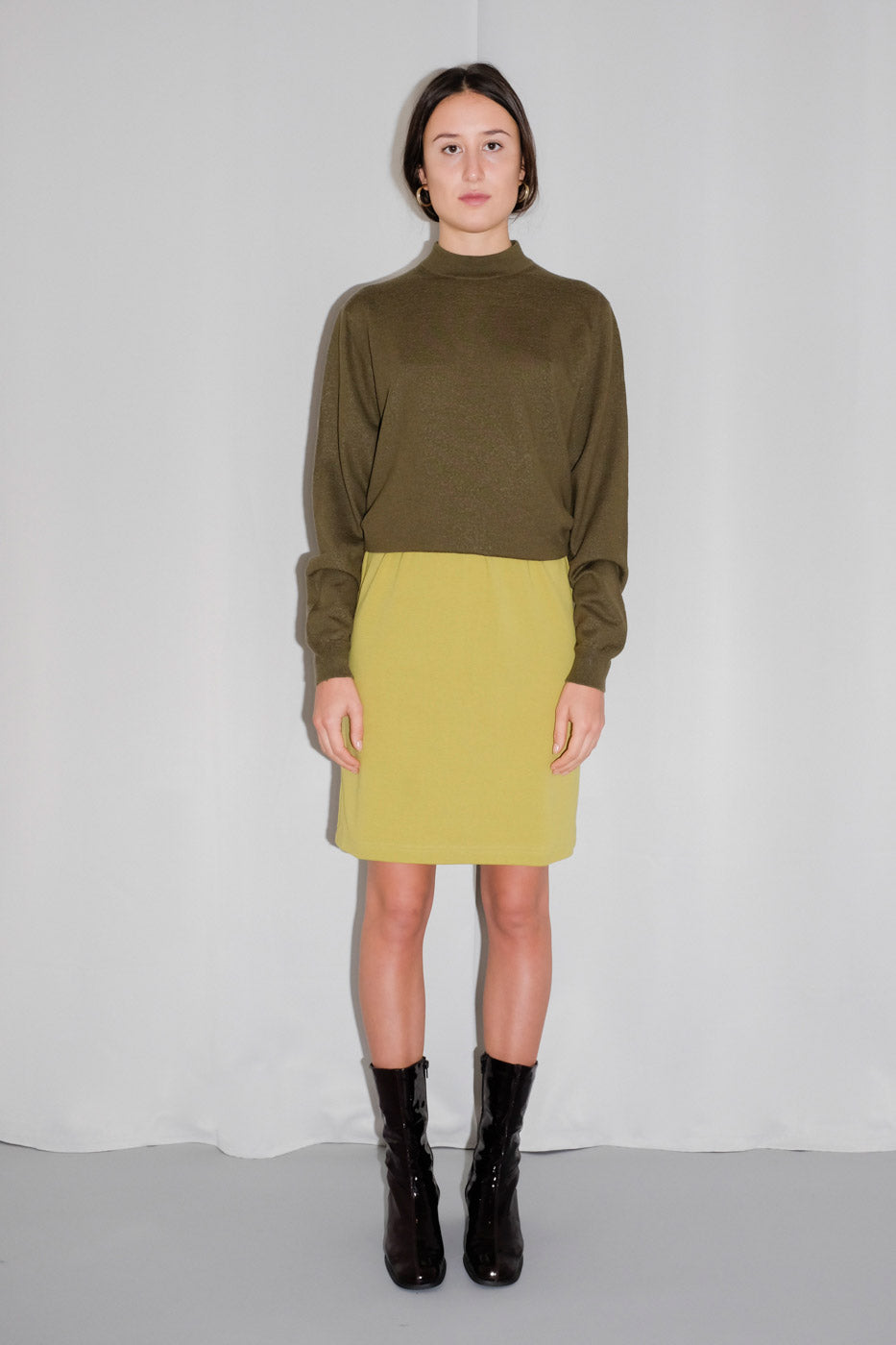 0010_LIME GREEN SKIRT