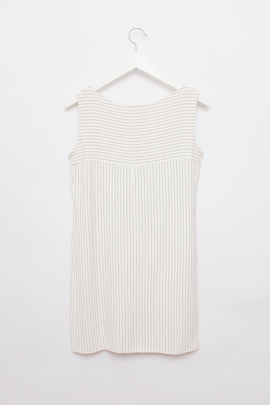 0012_WHITE HANDMADE PINSTRIPES DRESS