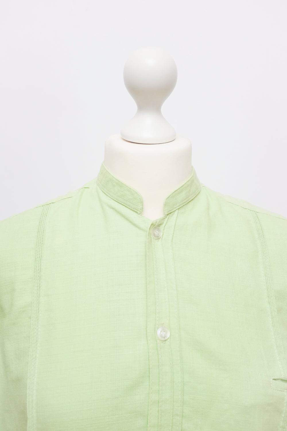 0001_LIME GREEN LINEN SHIRT