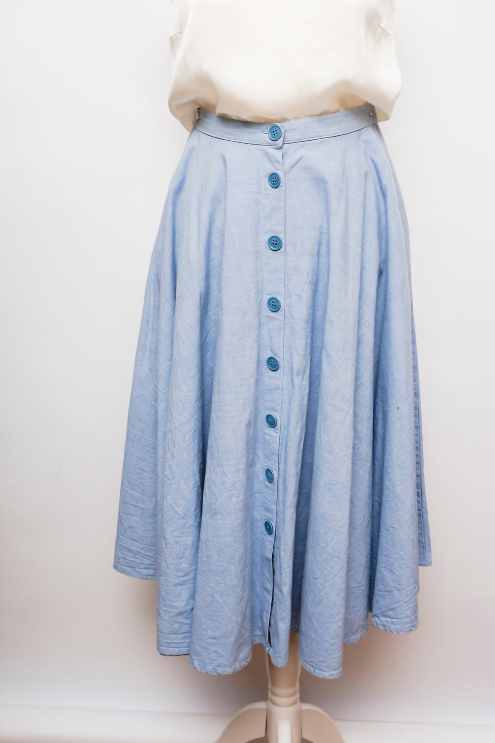 0001_BLUE HIGH WAIST SKIRT