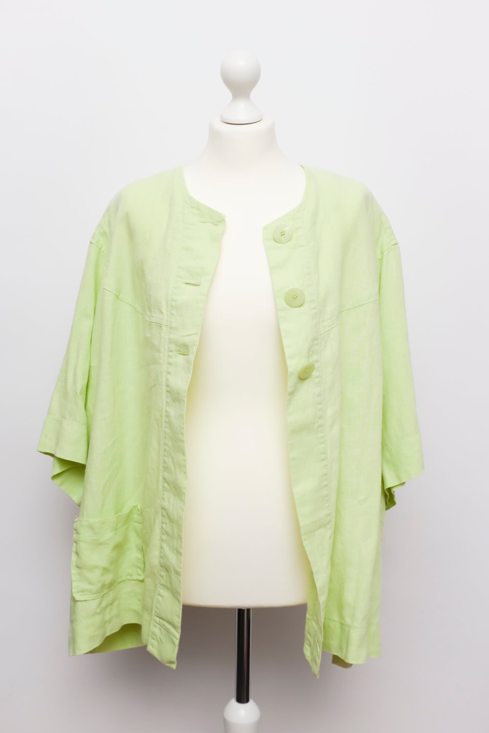 0001_LINEN LIME SUMMER BLAZER