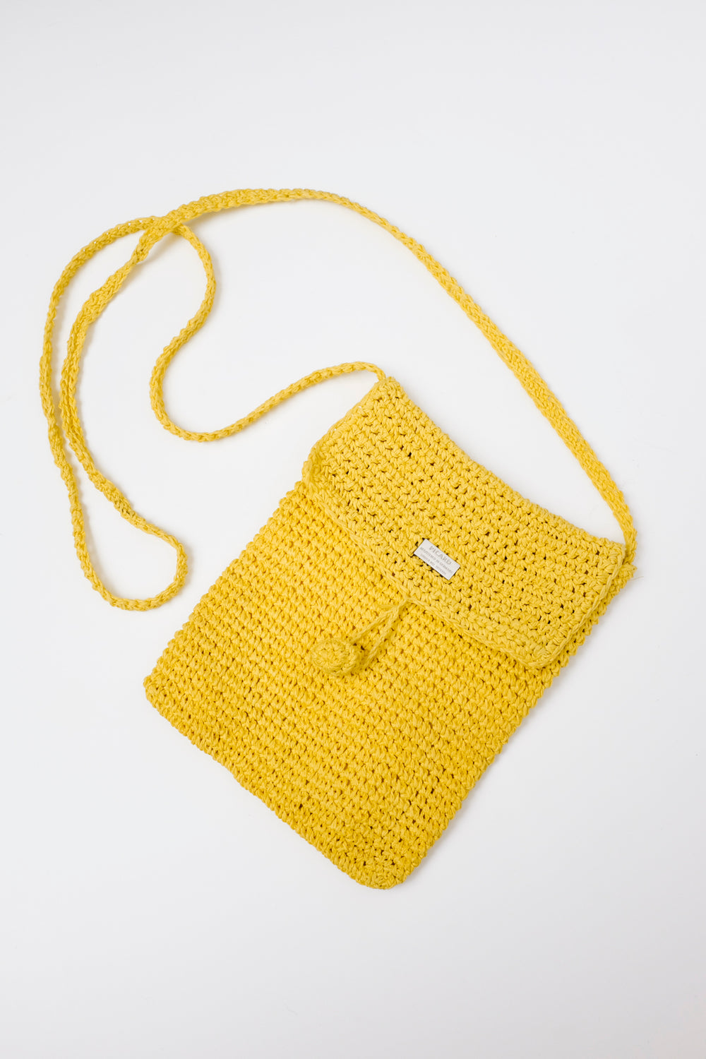0001_YELLOW PICARD CROCHET BAG
