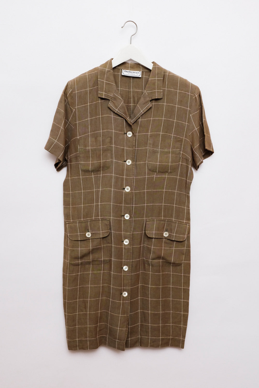 0016_BURBERRY VINTAGE LINEN SHIRT DRESS