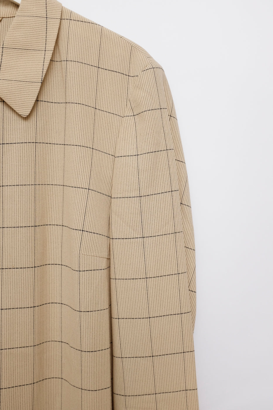0012_GRID BELTED SHIRT JACKET