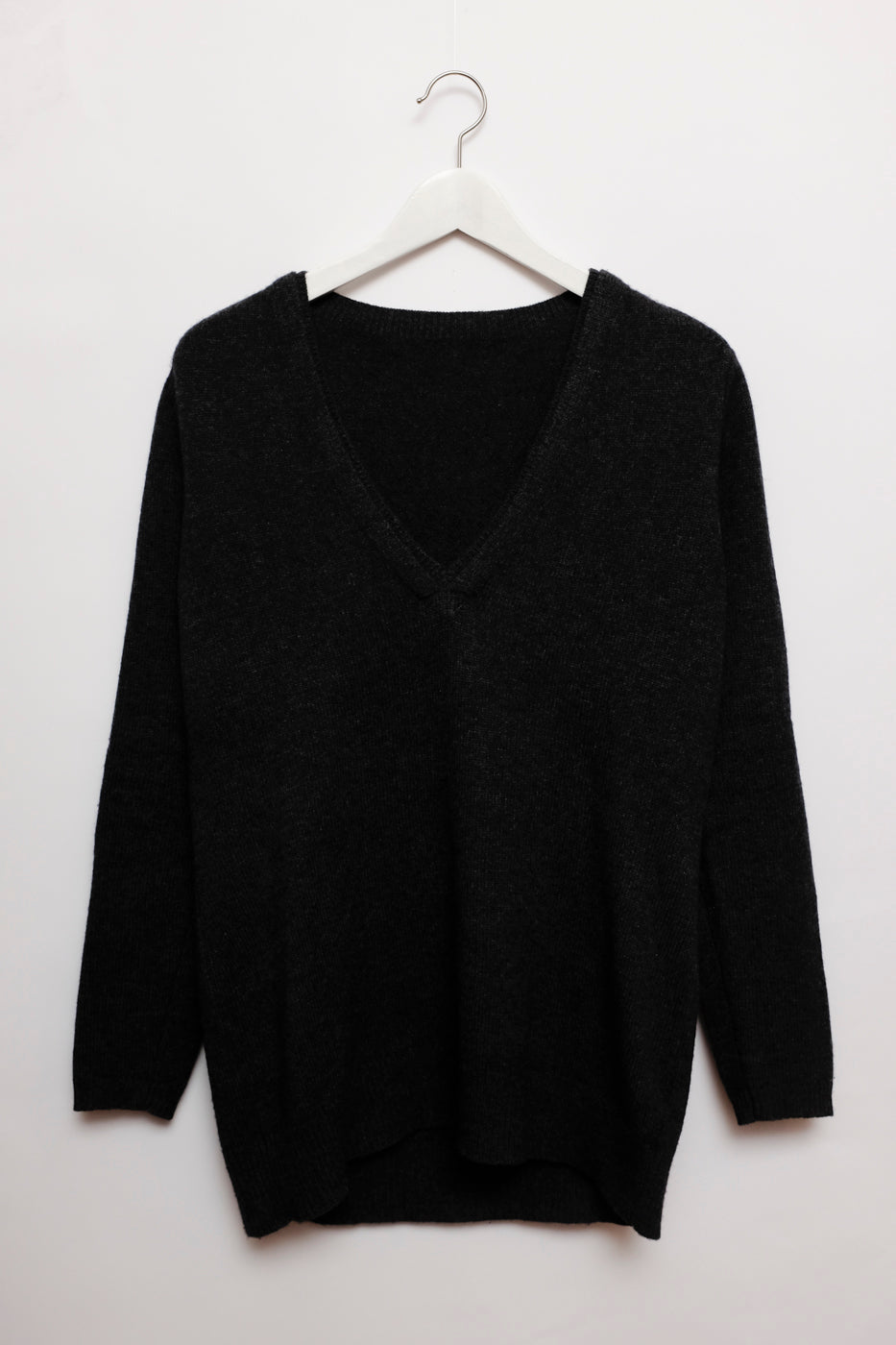 0007_WOOL CASHMERE V GREY LONG KNIT