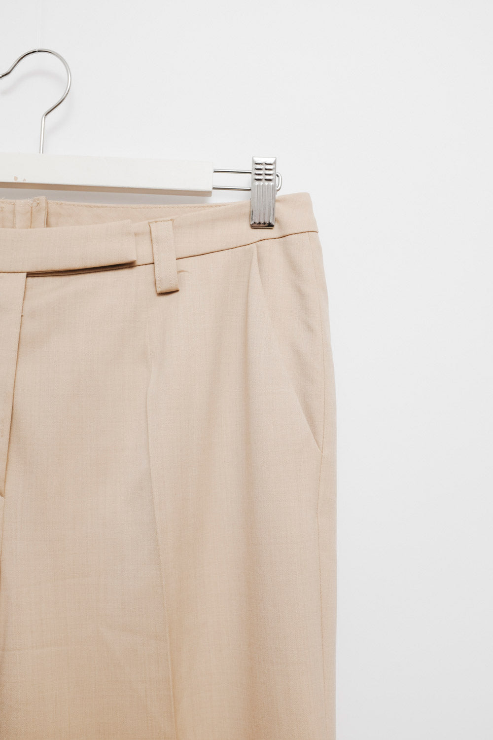 0017_VINTAGE ESCADA BEIGE WOOL PANTS