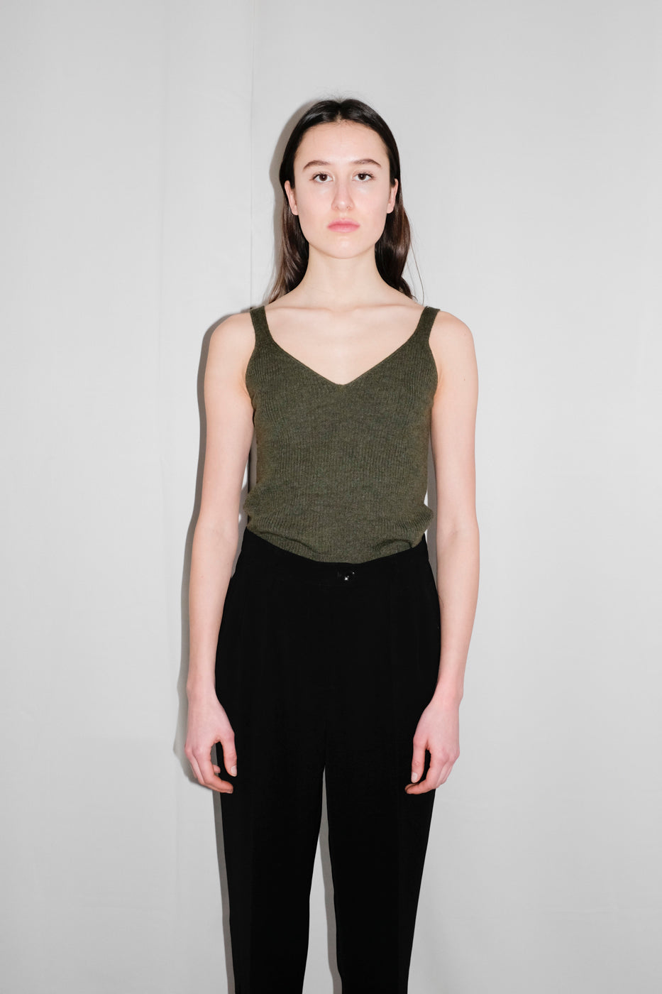 0044_KHAKI MERINO KNIT TOP