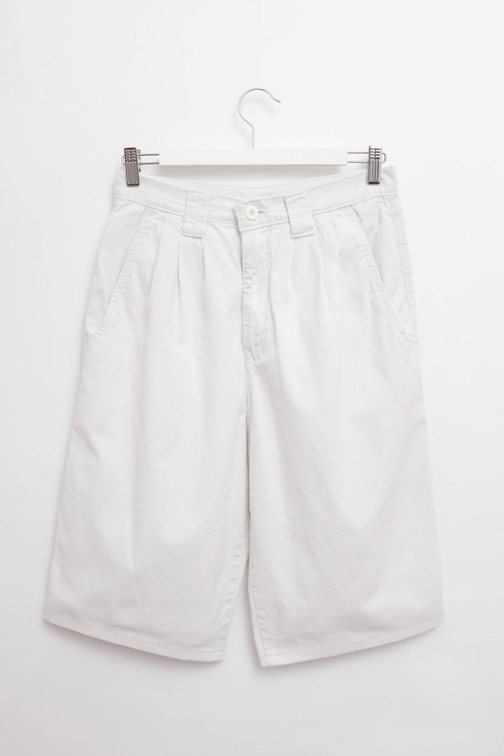 0016_PLEATED COTTON VINTAGE SHORTS