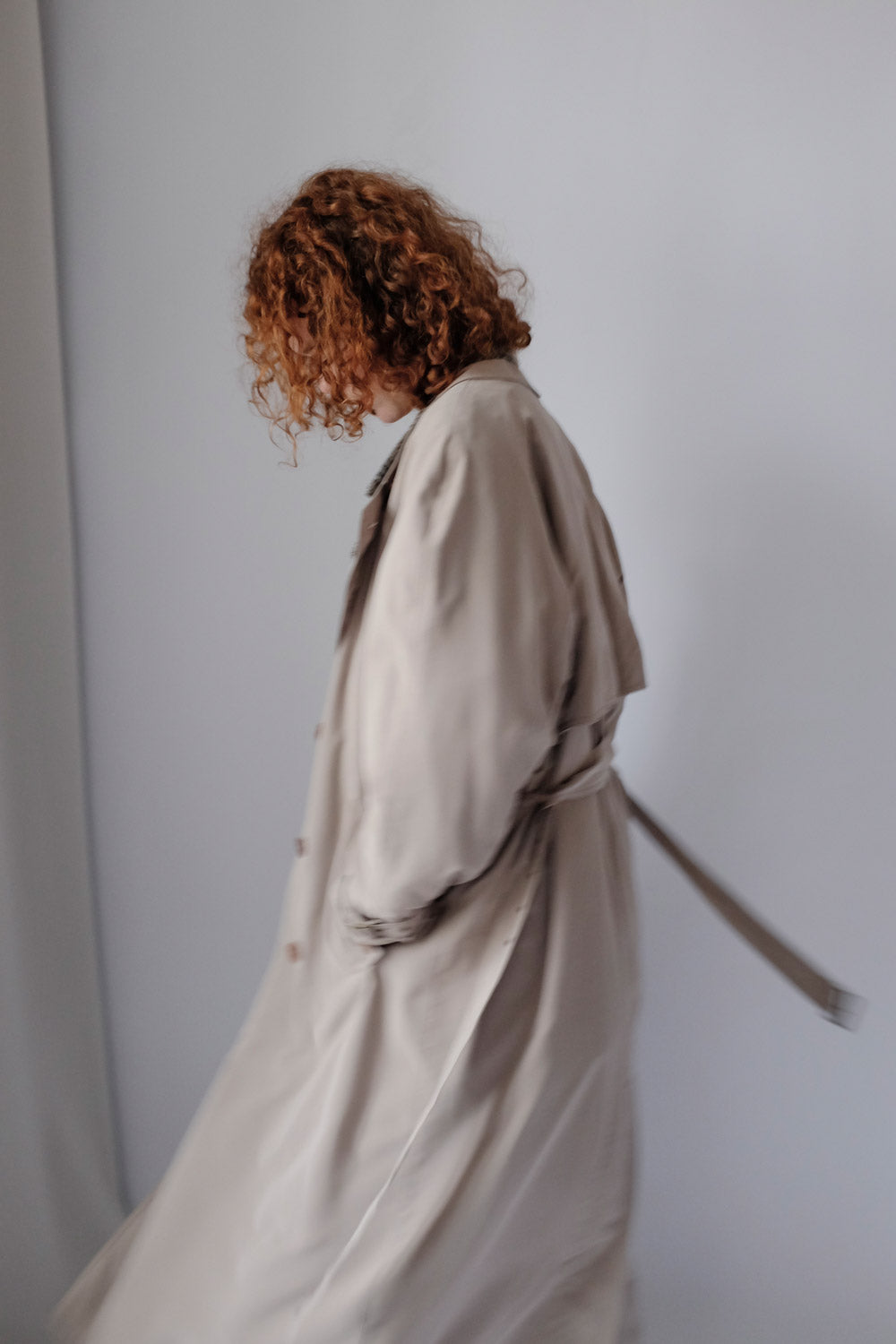 0017_BELTED STONE CLASSIC VINTAGE TRENCH