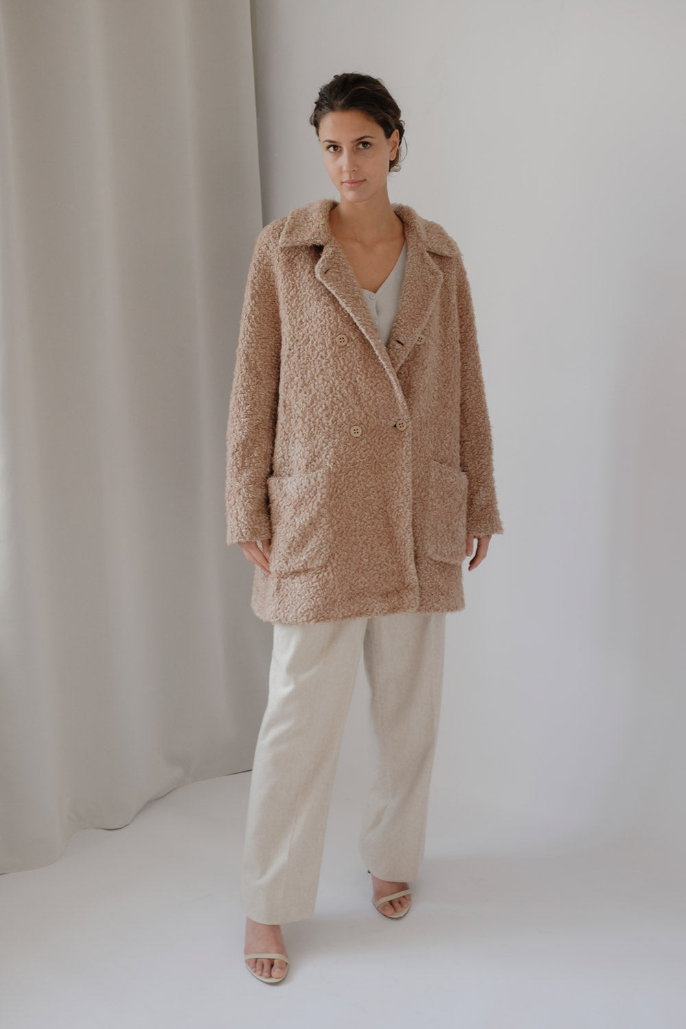 0017_VINTAGE OVERSIZED CAMEL TEDDY COAT