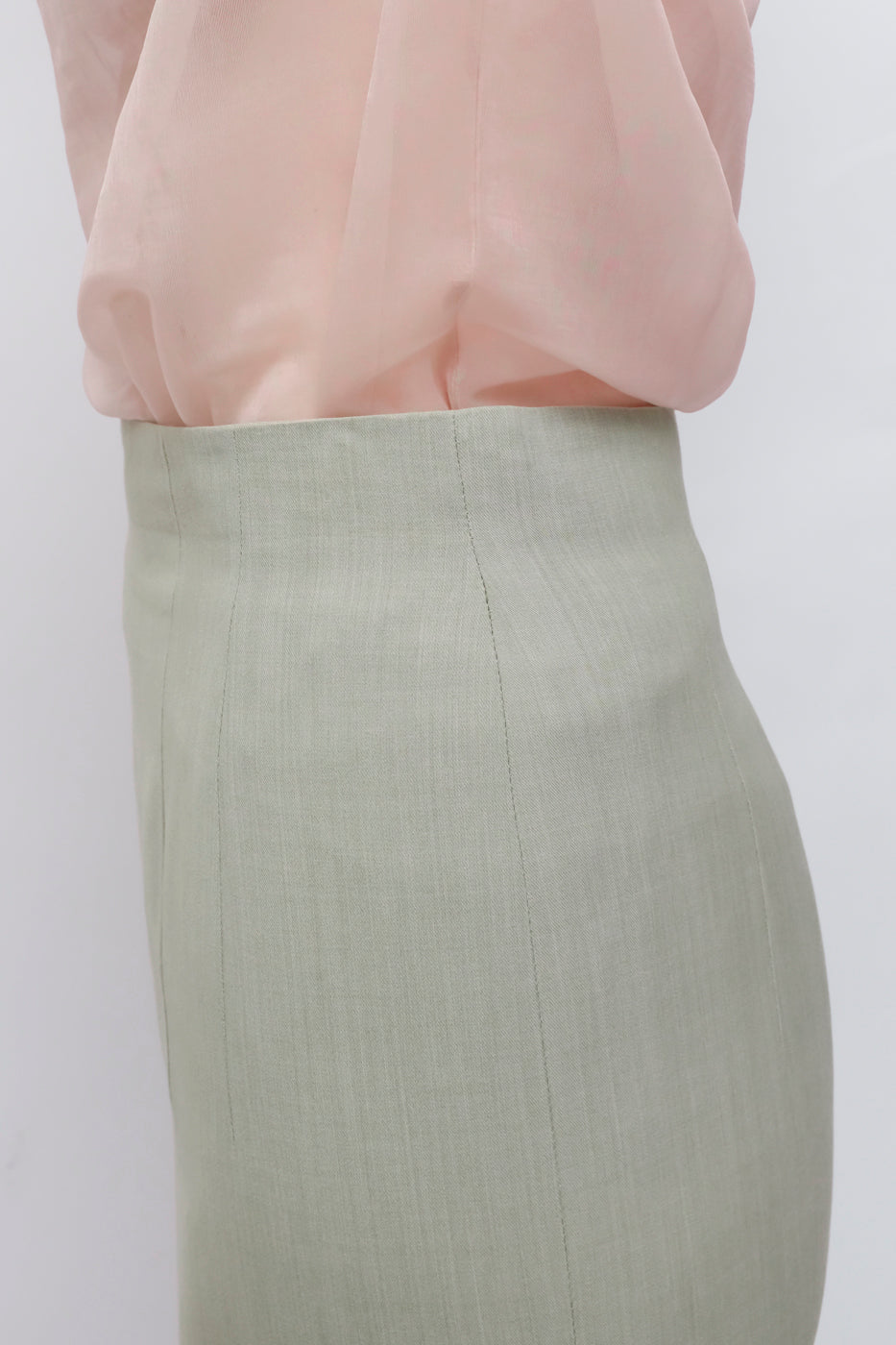 0002_JIL SANDER MINT HIGH WAIST SKIRT