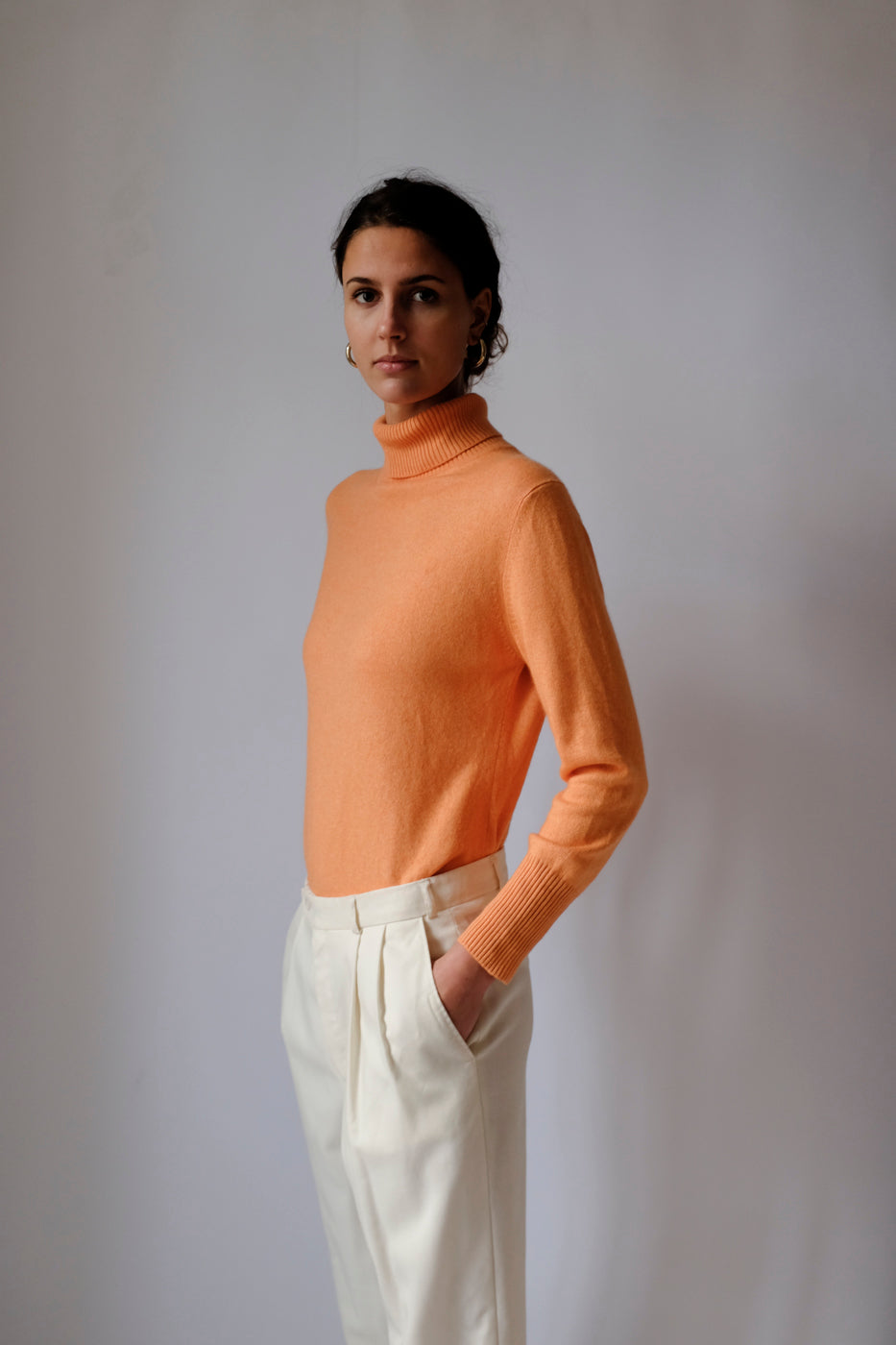 0010_CASHMERE SILK ORANGE KNIT