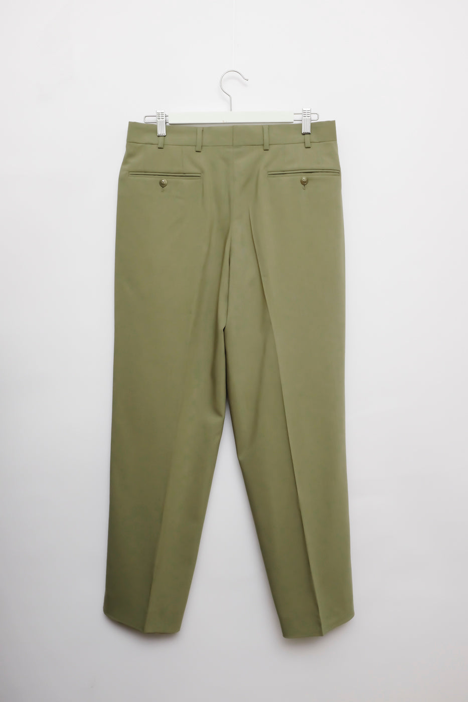 0002_DARK MINT PLEATED PANTS