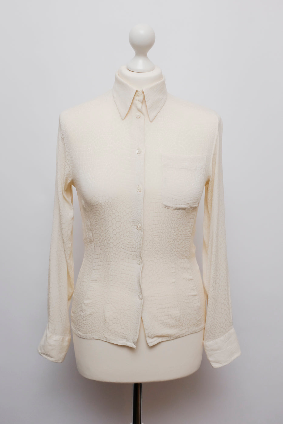 0002_SILK CROCO CREAM VINTAGE BLOUSE