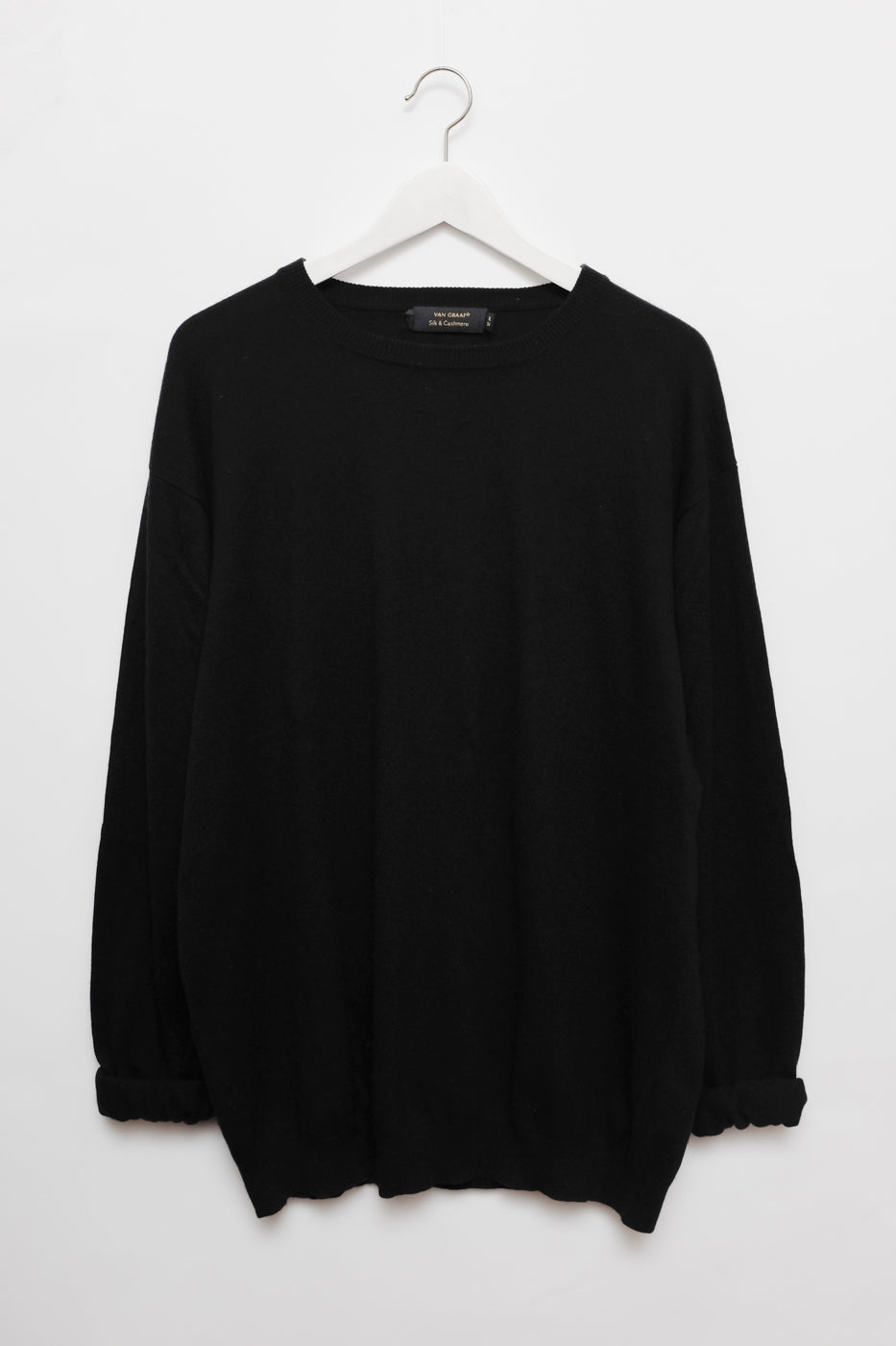 0005_SILK CASHMERE BLACK OVERSIZED SWEATER