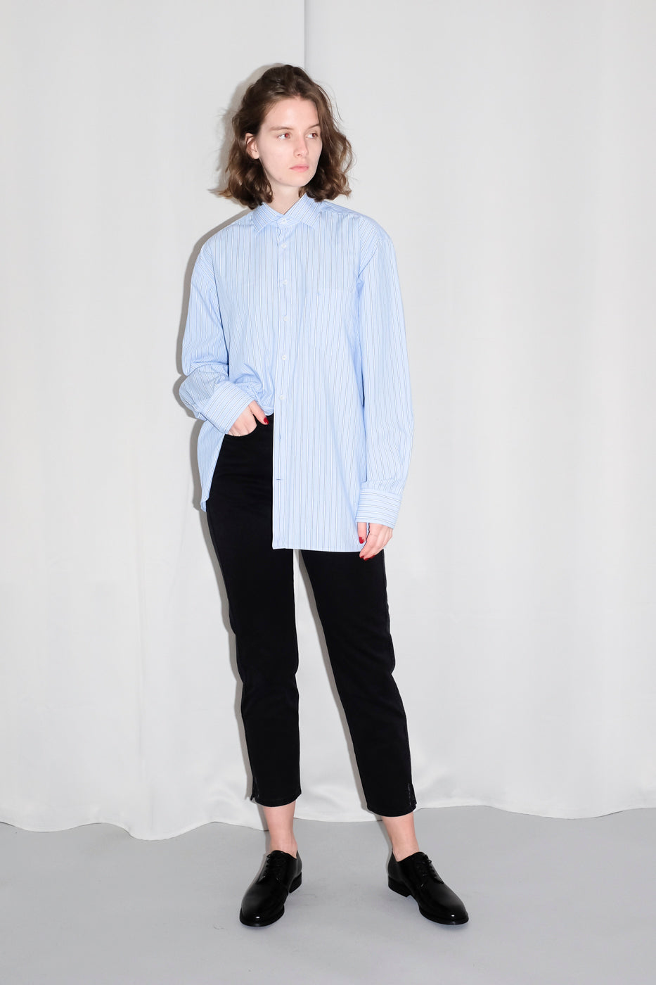 0095_PINSTRIPES PALE BLUE OVERIZED SHIRT