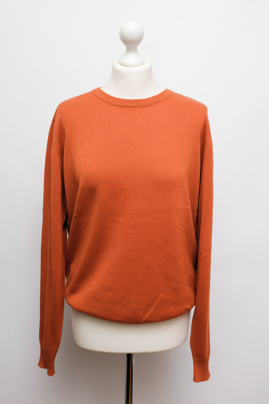 0009_ORANGE COTTON SWEATER