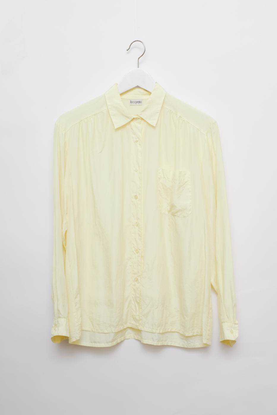0003_SILK YELLOW VINTAGE BLOUSE