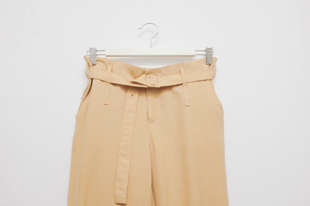 0003_PEACH PAPERBAG SILK LINEN PANTS