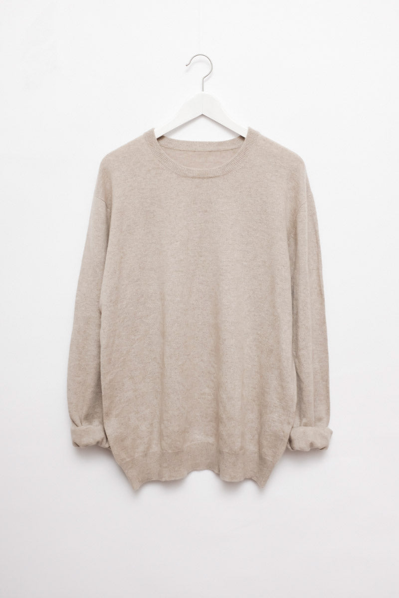 0117_CREAM PURE CASHMERE KNIT
