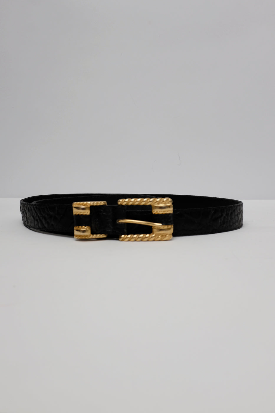 0003_BLACK LEATHER BELT