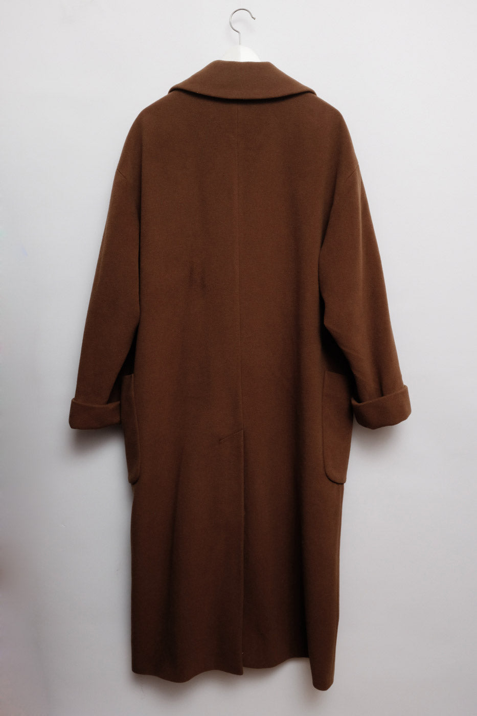 0010_BROWN CASHMERE WOOL MAXI COAT