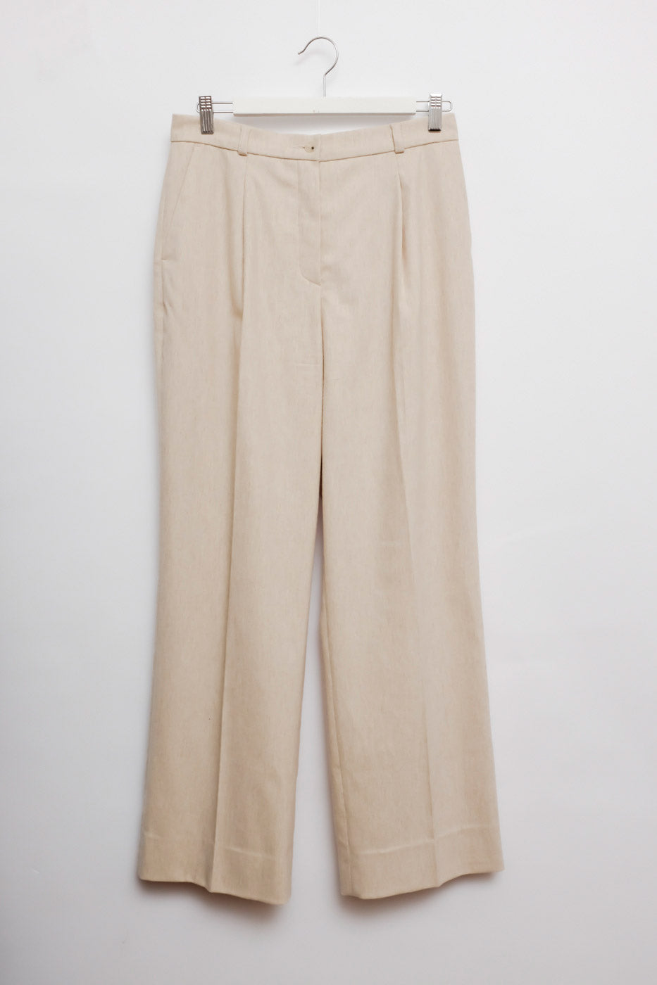 0012_VANILLA PLEATED WIDE PANTS