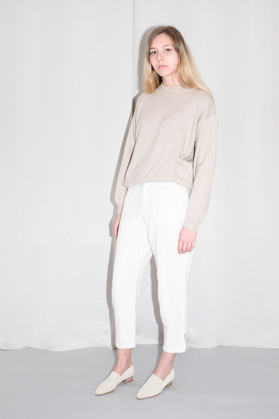 0001_LINEN COTTON HIGH WAIST PANTS