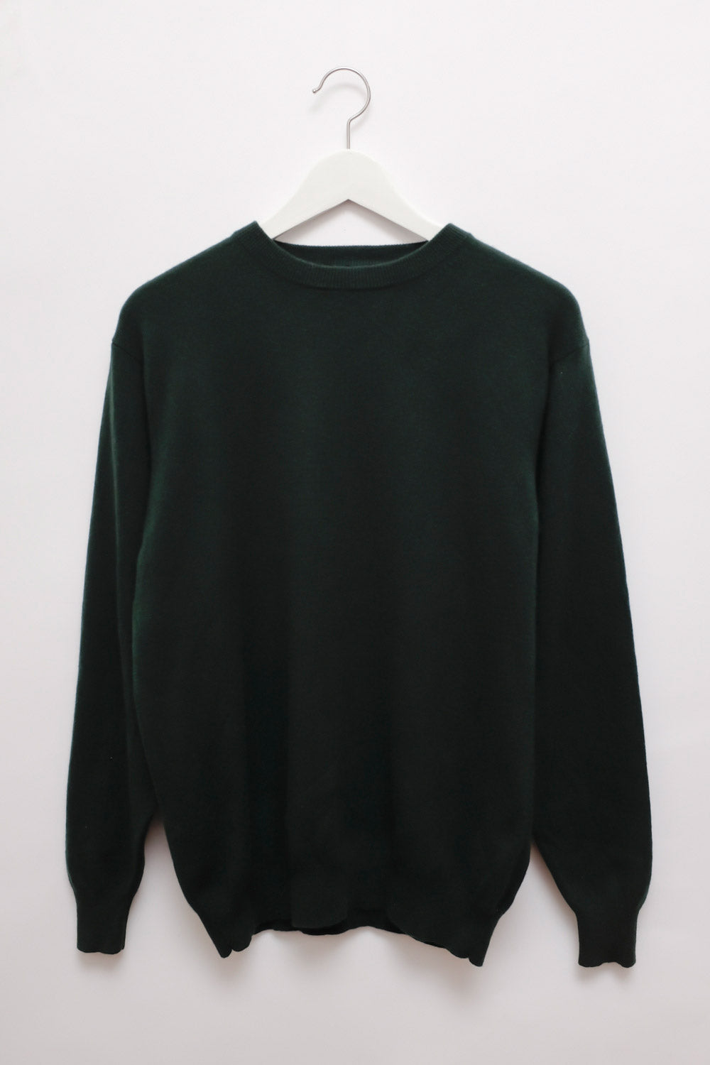0018_PURE CASHMERE FOREST GREEN KNIT
