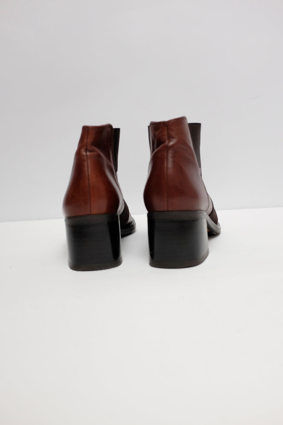 0005_ANKLE 38 39 VINTAGE LEATHER BOOTS