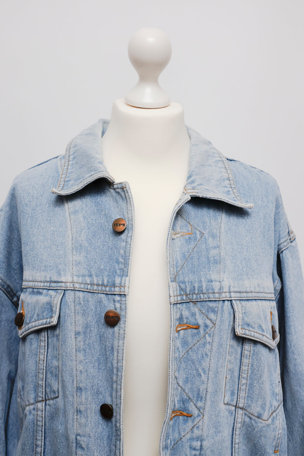 0015_PALE BLUE VINTAGE JEANS DENIM JACKET