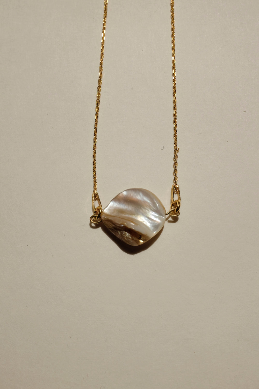 0015_SHELL 925 GOLD NECKLACE