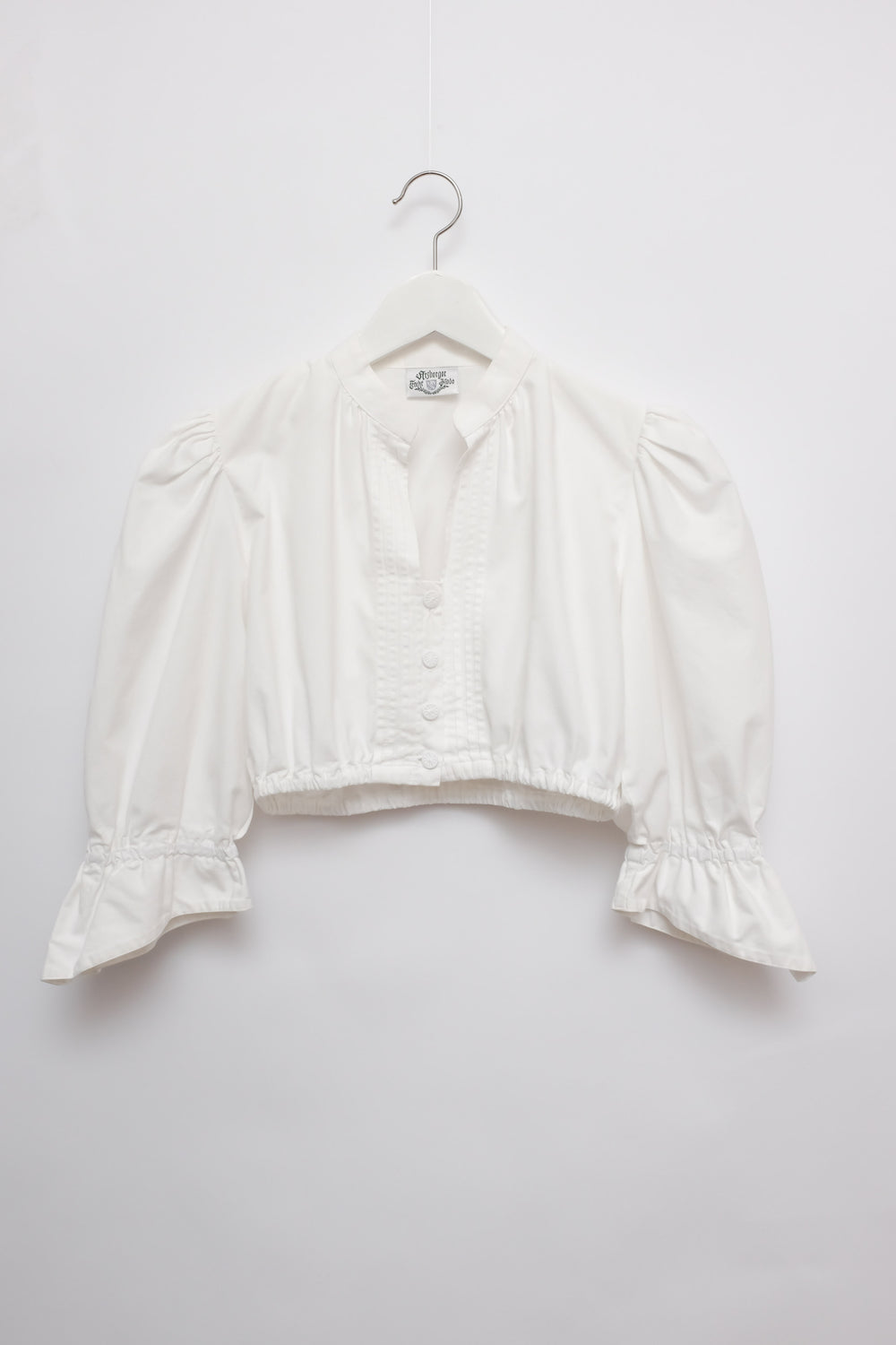0015_PUFFED SLEEVE VINTAGE CROP BLOUSE